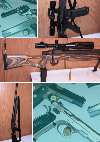 photo collage of firearms